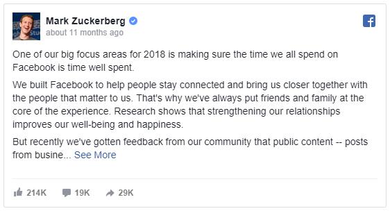 Facebook native outreach