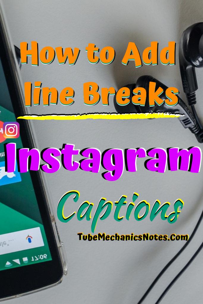 Add line Breaks to Instagram bio