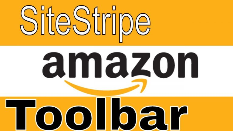 How to use the Amazon Associates SiteStripe Toolbar
