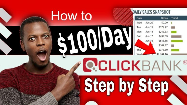 Clickbank for Beginners Make $100+ per day from Clickbank Free Way