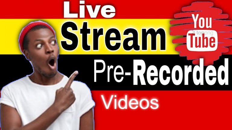 How to Live Stream Pre Recorded Video YouTube
