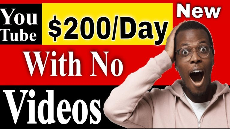 How to Make $200 a Day on YouTube without Making Videos part 1