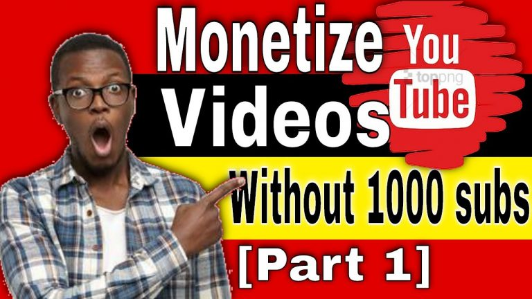 How I Started Making Money on YouTube without 1000 subs[Part 1]