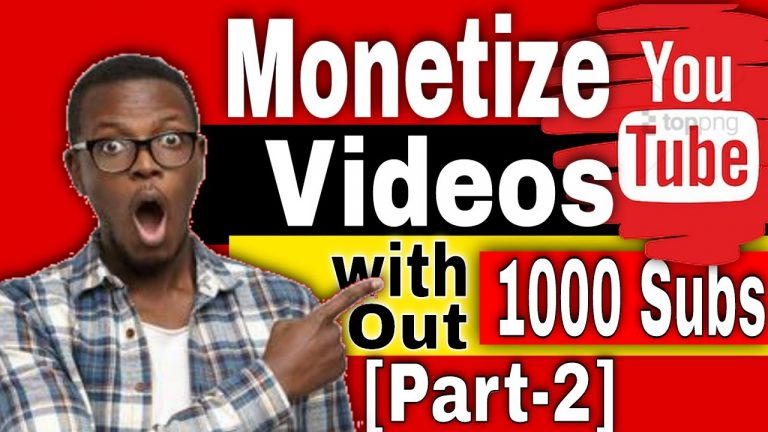 How I Started Making Money on YouTube without 1000 subs[part 2]