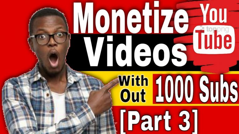 How to Monetize YouTube Videos without 4000 Hours and 1000 Subscribers[making money on youtube ]