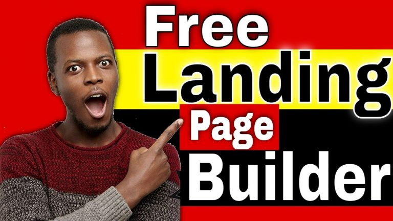 Free Landing Page Builder [How to Create a Free Landing Page]