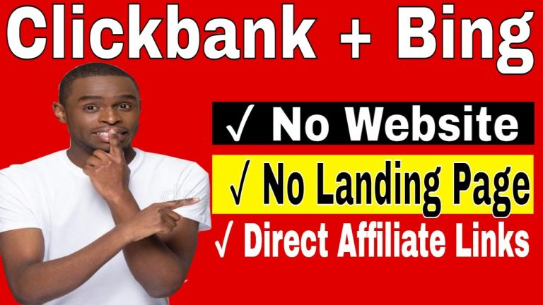 Clickbank Direct Linking Bing [How To Direct Link Clickbank Products On Bing Ads]